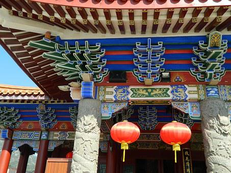 Chinese Ancient Architecture, Temple, Eaves