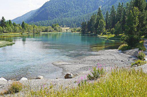 Bergsee, Alpine, Engadin, Switzerland, Inntal Valley