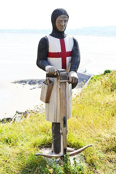 Knight, St George, Figure, Sculpture, Cross-bow, Armour