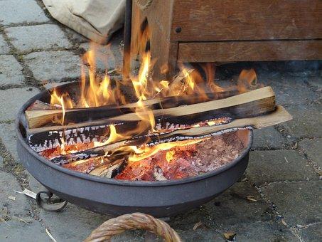 Fire, Flame, Heat, Carbon, Brazier, Temperature, Wood