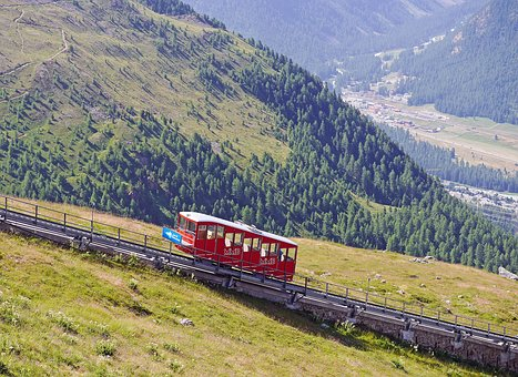 Funicular Railway, Aussichtspinkt, Engadin, Oberengadin