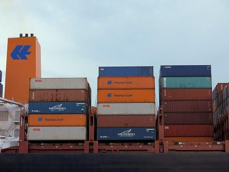 Container, Port, Hamburg, Container Ship