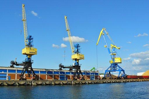Port, Harbour Cranes, Cranes, Harbour Crane, Industry