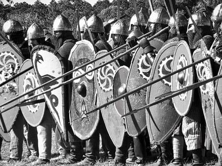 Medieval, Soldiers, Spears, Armour, Helmets, Defence