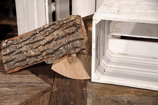 Firewood, Wooden Box, Decoration, Innenausbau