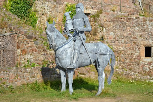 Sir Hugh Calveley, Sculpture, Knight On A Charger