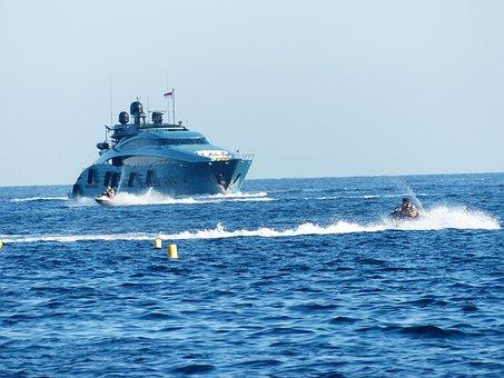 Yacht, Boat, Ship, Powerboat, Sea, Lake, Luxury, Wealth