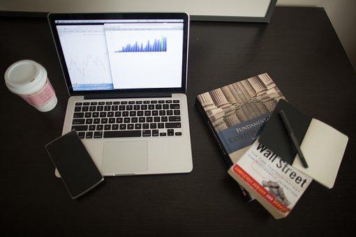 Charts, Graphs, Data, Finance, Macbook, Laptop