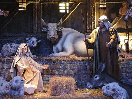 Christmas, Manger, Jesus, Christ
