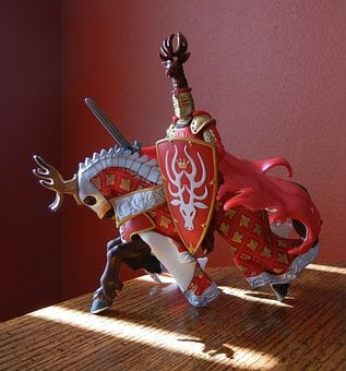 Knight, Horse, Battle Armour, Toy Collectible, Medieval