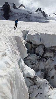 Crevasse, Glacier, Mont Blanc, Mer De Glace