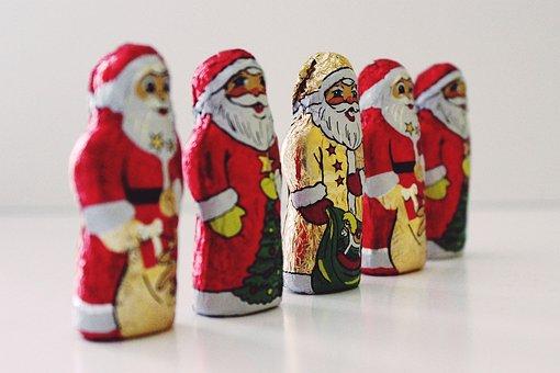Santa Clauses, Chocolate, Nicholas, Christmas