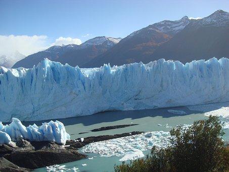 Glacier, Argentina, Perito Moreno, Landscape, Patagonia