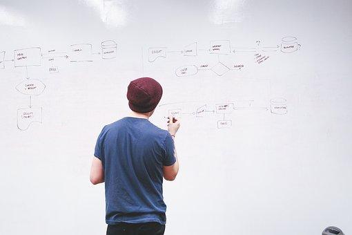 Whiteboard, Man, Presentation, Write, Display, Explain