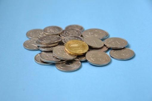 Ruble, Coins, Money, Russian, Handful, Kopek, Bank