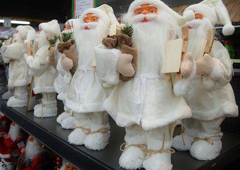 Santa Clauses, Nicholas, Figures, Christmas, Decoration