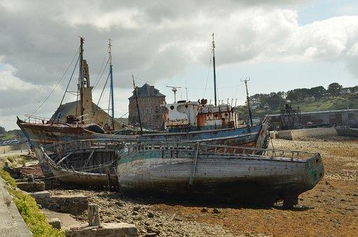 Boat, Ship, Wreck, Ship Wreck, Ship Graveyard, Expired
