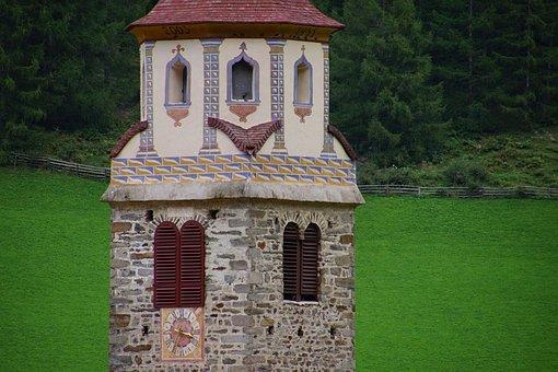 Campanile, Senales, Venosta, Merano, South Tyrol