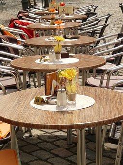 Table, Restaurant, Beer Garden, Sit, Spring, Eat