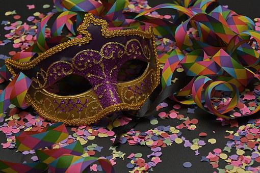 Mask, Confetti, Carnival, Colorful, Streamer, Carneval