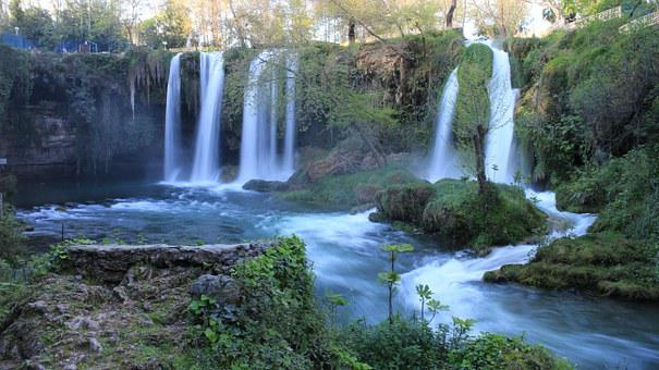 Waterfall, Waterfall Antalya, Turkey, Landscape, River