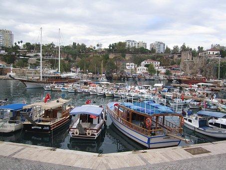 Port, Boats, Sailor, Antalya, Turkey, Ship, Ocean, Sea