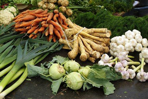 Bazaar, Booth, Shop, Turnip, Parsley Root, Carrot