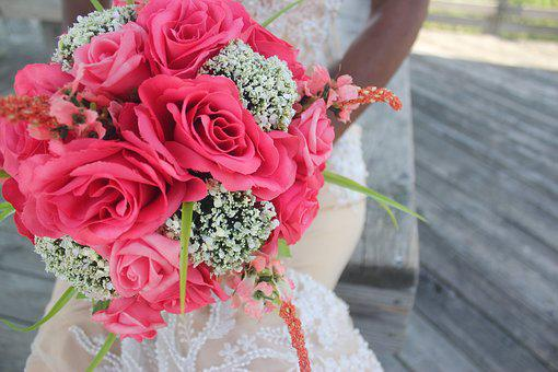 Flowers, Wedding, Bride, Wedding Flowers, Love, Romance