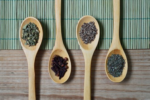 Table, Spoon, Wood, Spice, Oregano, Thyme, Dill, Nail
