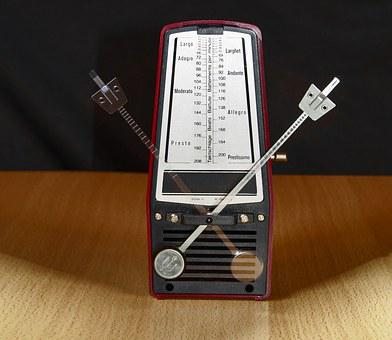 Metronome, Clock, Music, Music Production, Work Table