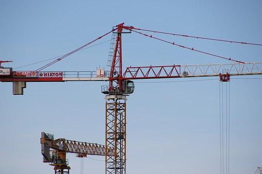 Crane, Construction, Lift, Raise, Workplace, Heavy