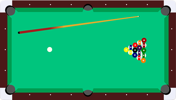 Pool Table, Pocket Billiards, Billiards, Sticks, Balls