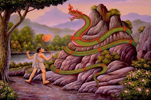Snake, Serpent, Buddha, Thailand, Reptile, Animal, Wild
