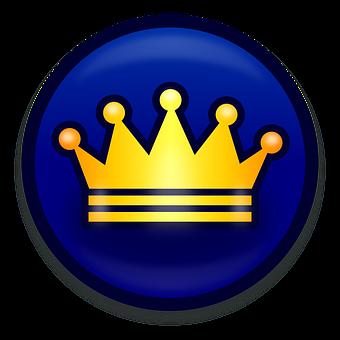 Background, Blue, Button, Click, Crown, Design, Digital