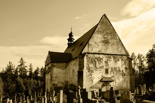 Church, Cemetery, Scary, The Church Of Mary Magdalene
