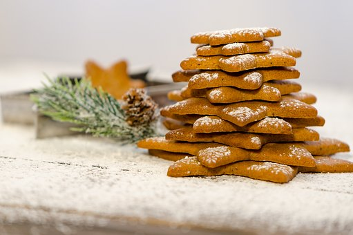 Cookies, Gingerbread, Pastry, Dessert, Christmas