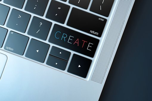 Create, Creation, Creativity, Laptop, Keyboard