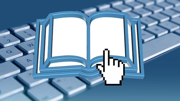Book, Ebook, Read, Scroll To, Computer, Cursor, Hand