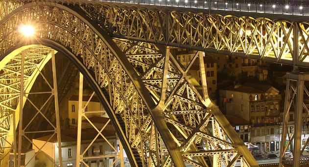 Architecture, Steel, Travel, Bridge, Rivet, Evening