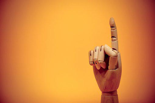 Finger, Forefinger, Gesture, Up, Pointing, Point