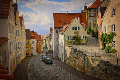 Road, Home, Architecture, City, Old, Vintage, Landsberg