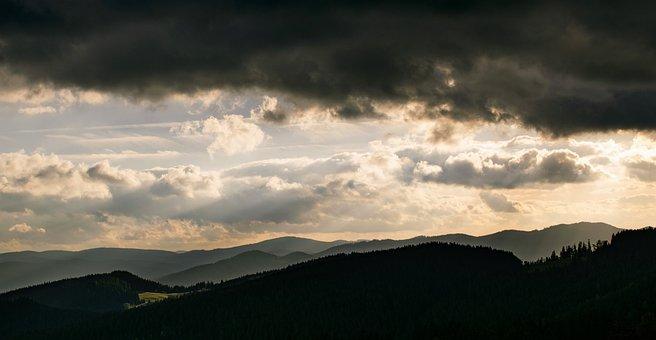 Mountains, Beskydy, Clouds, Czech Republic, Bonny Hank