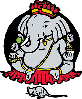 Ganesha, Elephant God, Mouse, Hinduism, Religion