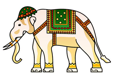 Elephant, Indian, Animal, Design, Pattern, Decorative