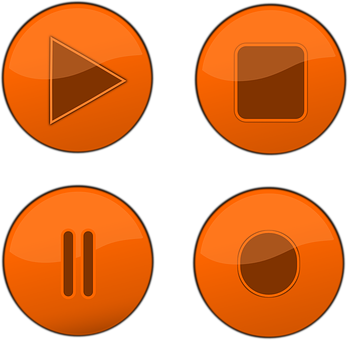 Buttons, Stop, Record, Pause, Play, Symbol, Player