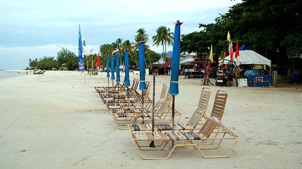 Beach, Travel, Tourism, Sand, Sea, Tourist, Chair