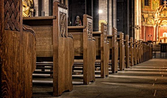 Church, Church Pews, Wood, Sit, Old, Religion