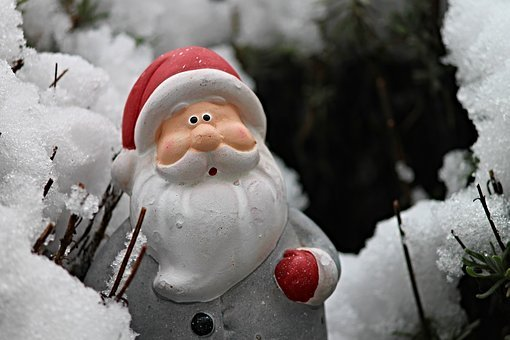 Santa Claus, Snow, Winter, Christmas, Christmas Motif