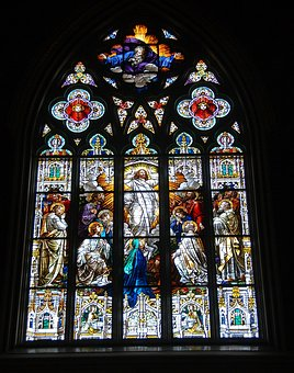 Church, Stained Glass, Religious, Cathedral, Saint