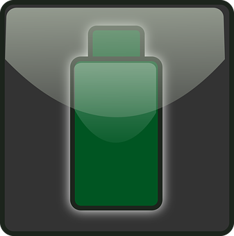 Depleted, Battery, Green, Power, Status, Low Battery